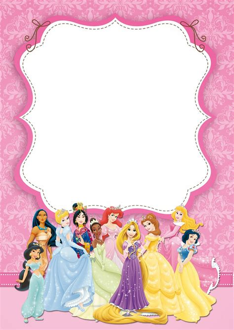 disney card templates free printable disney princess ticket invitation template