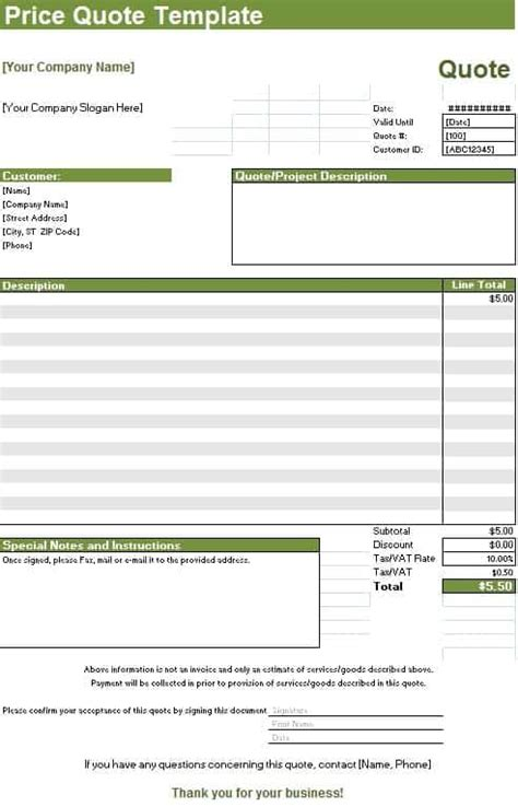 Hourly Rate Invoice Template