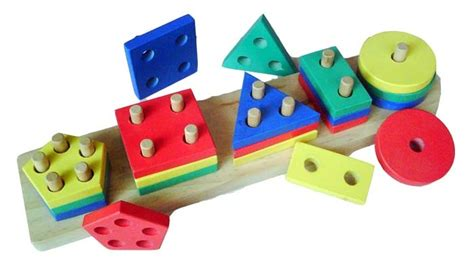 Ronche Geo 20 Pcs geo bentuk 5 mainan kayu