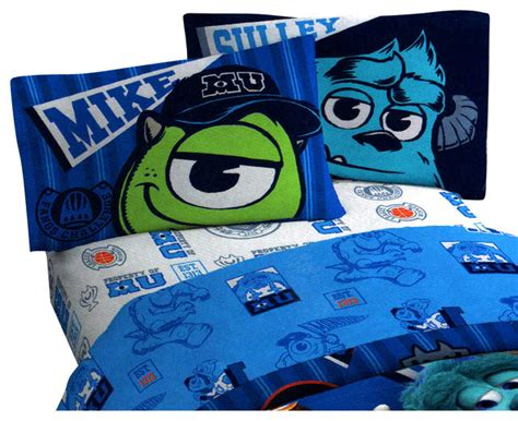 Monsters Inc Bed Set Disney Monsters Inc Scare 3 Pieces Bed Sheet Set Contemporary Bedding