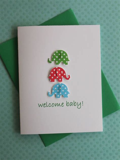 Gift Cards Welcome Wording - handmade baby congratulations baby shower new baby welcome baby boy gift card 3d blue