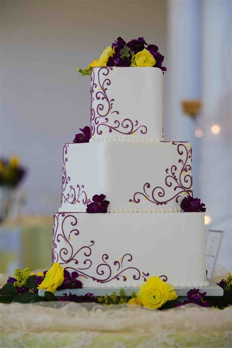 Wedding Cakes With Yellow And Purple Flowers by Purple And Yellow Wedding Cakes Siudy Net