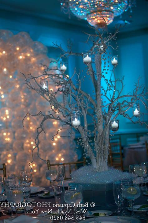 Quinceanera Decor Winter Wonderland Winter Wonderland Winter Centerpieces Sweet 16