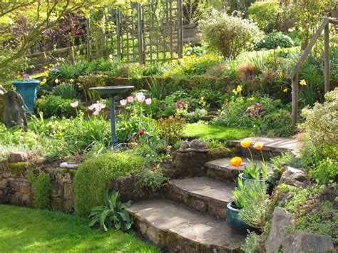 Terraced Backyard Landscaping Ideas Gardening On Slopes Ongardening
