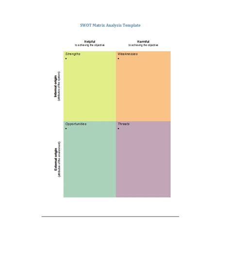design analysis template 40 powerful swot analysis templates exles