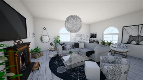 grey theme grey theme living room by koskchri