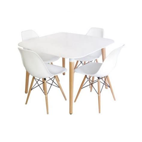 Square White Dining Table Eames Style Dsw White Square Dining Table