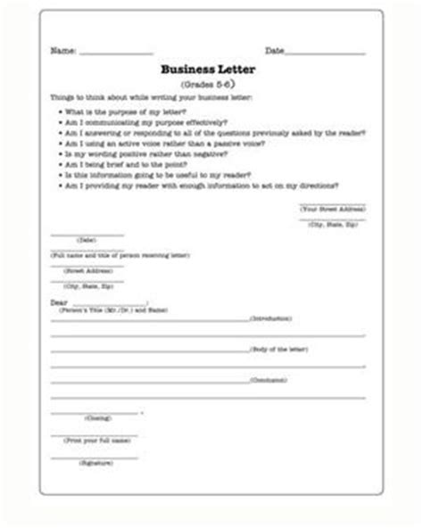 business letter class activities business letters free worksheet for w