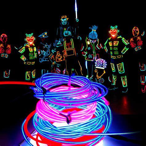 neon light el wire el wire neon light glow outdoor