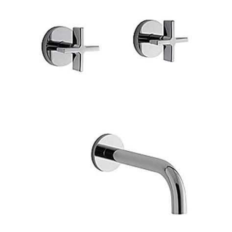 Kallista Bathroom Faucets by Kallista One Wall Mounted Bath Faucet Set Cross Handles