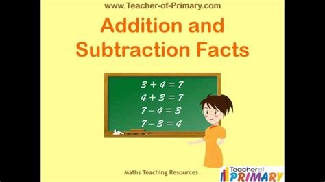 addition and subtraction facts teaching resource