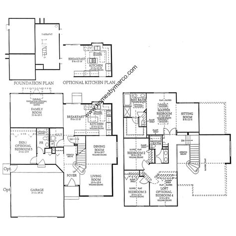 homes by marco floor plans madison model in the harvest hill subdivision in