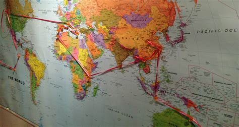 String World Map - our route across the globe project equator