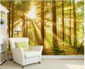 wall scenery murals custom nature wall murals woods morning scenery paintings
