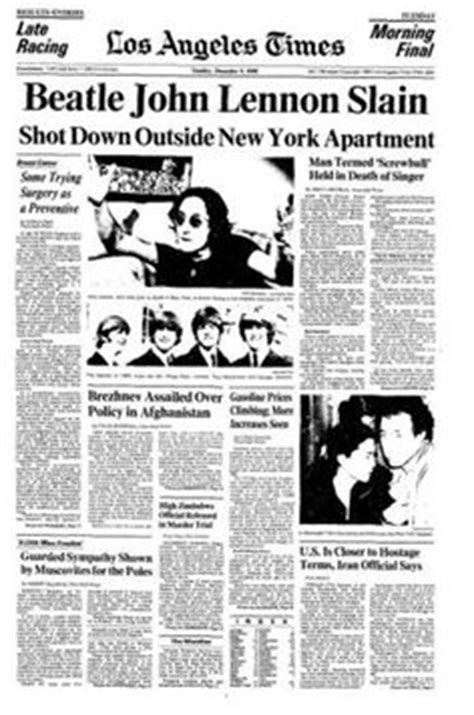 John Lennon Biography Articles | 1000 images about newspaper reports on pinterest