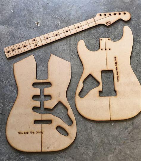 guitar building templates 60 s strat template luthier reverb