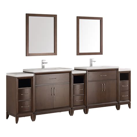 double vanity bathroom mirrors fresca cambridge 96 quot antique coffee double sink traditional bathroom vanity with