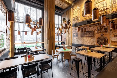 Decor Tiles And Floors by Star Burger An Industrial Restaurant Design Adorable Home