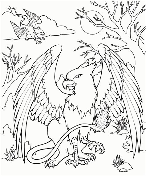 Creatures Coloring Pages free coloring pages of mythological creatures coloring home