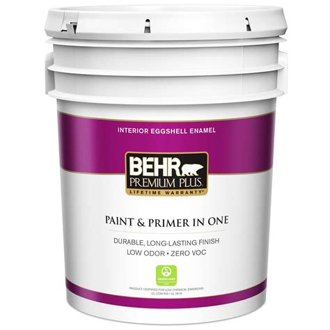 home depot 5 gallon interior paint behr premium plus 5 gal ultra white eggshell enamel