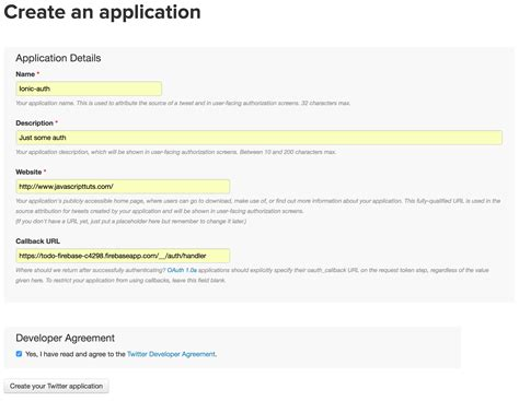ionic oauth tutorial adding twitter authentication with firebase in ionic
