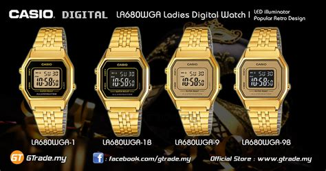 Casio Standard La680wga 1 Original casio standard la680wga 1 digital retro gold design 11street malaysia casual