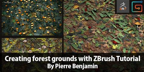zbrush grass tutorial creating forest grounds with zbrush tutorial by pierre