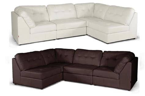 off white leather sectional sofa new off white or brown modern leather modular sectional