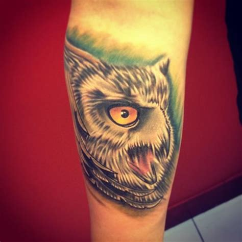 owl tattoo meaning japanese arm realistic owl tattoo by fatih odabaş