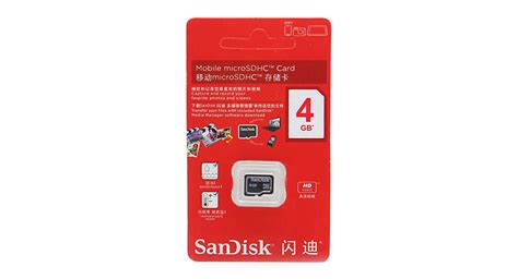Memory Hp Sandisk 4gb 5 99 sandisk microsdhc memory card 4gb class 4 at fasttech worldwide free shipping