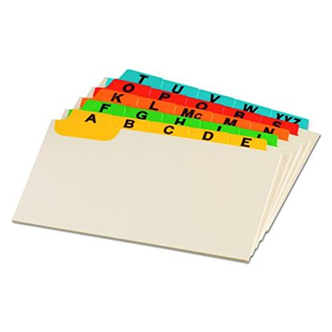 Oxford Index Card Tab Template 1 5 by Oxford Index Card Guides With Laminated Tabs Alphabetical