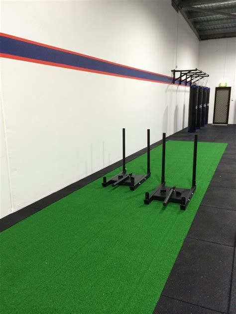 Astro Turf by Gym Flooring Artificial Turf Sled Track Installation