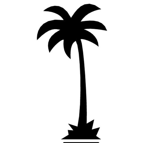 Palm Tree Outline by California Palm Tree Vector Outline Clipart Best