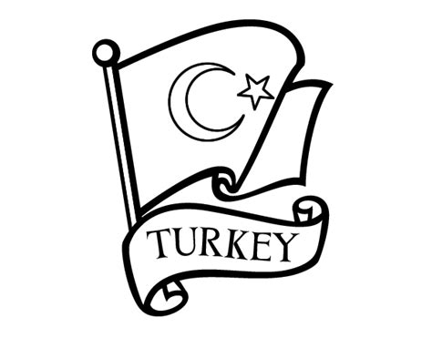 Flag of Turkey coloring page   Coloringcrew.com