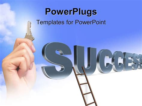 powerpoint template a ladder with the word success 27885