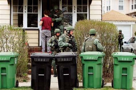 Warrant To Search House Boston Bomber Manhunt Is The Watertown Door To Door Search By For Dzhokhar
