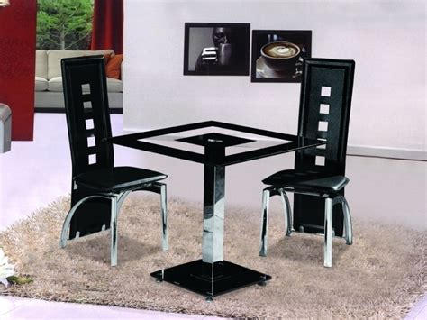 two chair dining table set small square black glass dining table with 2 chairs