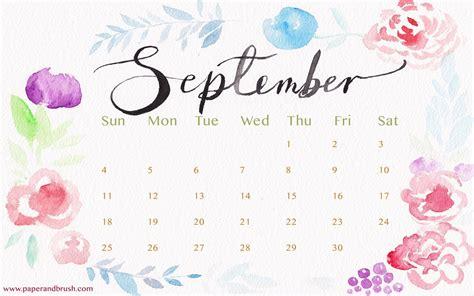 Calendar September 2017 Wallpaper Desktop Wallpapers Calendar September 2016 Wallpaper Cave
