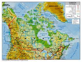 map of the us and canada physical features physical map of canada by bestcountryreports