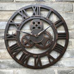 Pendule Murale Originale 914 by Grande Horloge Murale Cadre Ferronnerie Fer Metal