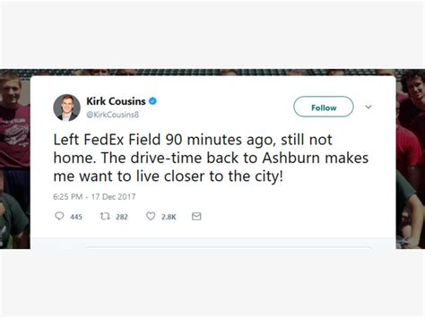 Dc Traffic Search Kirk Cousins Complains About Dc Traffic Washington Dc