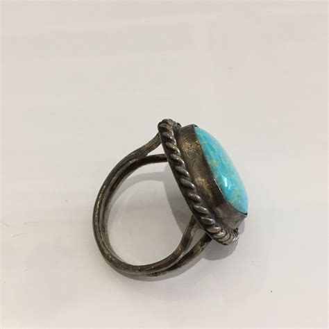 vintage sterling silver turquoise ring size 8 5