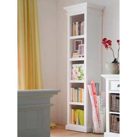 Narrow White Bookcase Halifax White Narrow Bookcase Or Bathroom Storage For Towels