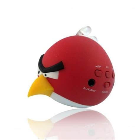 speakers angry birds rechargeable speaker fm radio usb mp3 player micro sd mp3 player