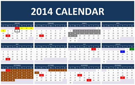 template for 2014 calendar excel 2014 year planning template autos post