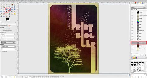 gimp visitenkarten tutorial tutorial vintage poster in gimp gestalten 187 saxoprint blog