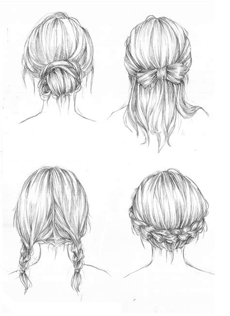 sketches of hair drawing art hair girl people female draw boy human guy