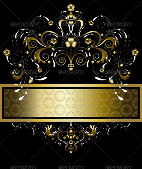 Original Gold Pattern for Banner   GraphicRiver