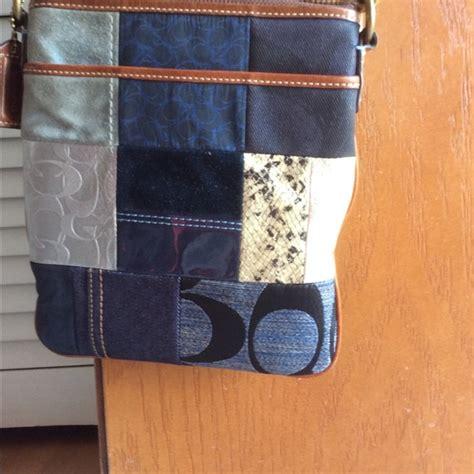 Coach Denim Patchwork - 61 coach handbags coach patchwork denim crossbody