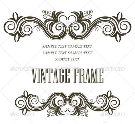 header design black and white vintage framing header and footer graphicriver